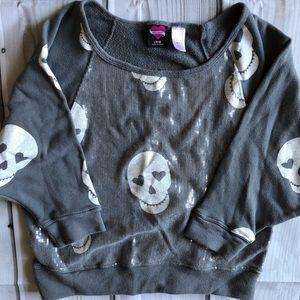 Hard Candy Sweatshirt Large 11-13 Skulls Sequins